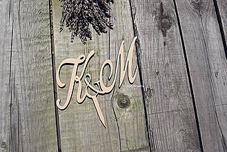 Dekorácie - drevený zápich - 10901499_