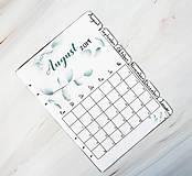 Papiernictvo - Polročný kalendár a oddeľovač 2 v 1 (Náplň do diára) PDF - 10900942_