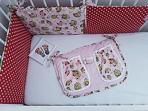 Textil - Mantinel do postieľky s lienkami - 10902824_