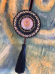 Dekorácie - ozdoba fialový ornament no.103 - 10900559_