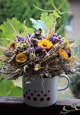 Dekorácie - Aranžmán zo sušených kvetov - 10901566_
