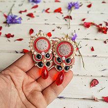 Náušnice - Vintage Wedding earrings n.2 - sutaškové náušnice - 10900480_