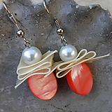 Náušnice - perleťové lososové krásky - 10900814_