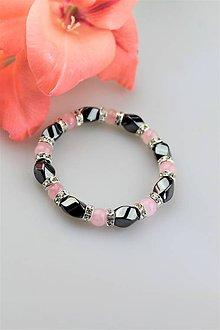 Náramky - hematit s ruženínom náramok luxusný - 10900646_