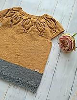 Detské oblečenie - Horčicový top - 10903201_