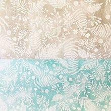 Textil - papradie, 100 % bavlna Francúzsko, šírka 150 cm (Šedá) - 10900703_