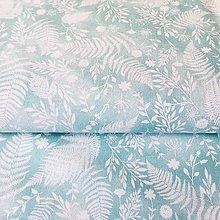 Textil - papradie, 100 % bavlna Francúzsko, šírka 150 cm (Tyrkysová) - 10900714_