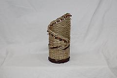 Drobnosti - Béžový stojan na fľašu - 10901343_