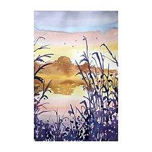 Obrazy - Pri jazere - 10901880_