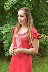 Šaty - Dámske šaty s ľudovým motívom Slovenská ornamentika - 10903697_