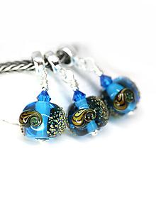 Náramky - Prívesok v štýle pandora - mušle modrá /ch-21 - 10903569_