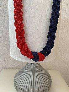 Náhrdelníky - Uzlový, obojstrajne zapletaný náhrdelník - 10901504_
