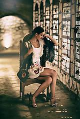 Šaty - Biely mini šaty Poľana - 10902634_