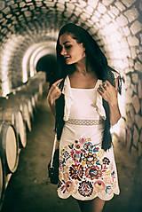 Šaty - Biely mini šaty Poľana - 10902635_