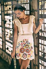 Šaty - Biely mini šaty Poľana - 10902638_