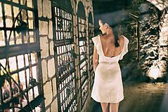 Šaty - Biely mini šaty Poľana - 10902640_