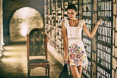 Šaty - Biely mini šaty Poľana - 10902641_
