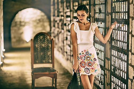 Biely mini šaty Poľana