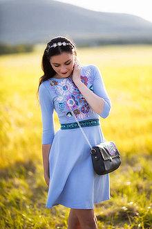 Šaty - Modré mini šaty Poľana - 10902547_