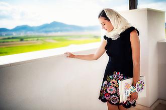 Šaty - Mini vyšívané šaty čierne Poľana - 10902793_