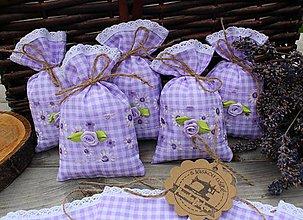 Úžitkový textil - Vrecúška na levandulu - 10902377_