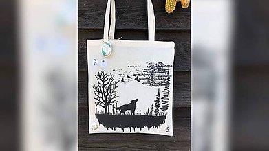 Nákupné tašky - ♥ Plátená, ručne maľovaná taška ♥ - 10901109_