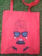 Nákupné tašky - Ručne maľovaná taška - Mode - 10902567_