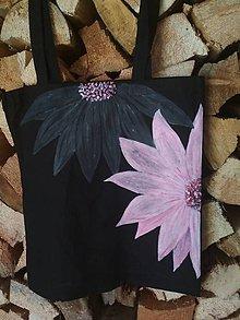 Nákupné tašky - Ručne maľovaná taška - Kvety - 10902577_