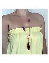 - Achátový náhrdelník - 10903382_