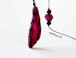 Náhrdelníky - Achátový náhrdelník - 10903368_