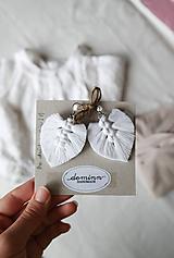 Macramé Náušnice - Biela