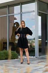 Šaty - Šaty oversize čierne - 10900454_