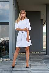 Šaty oversize biele