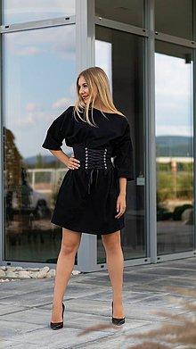 Šaty - Šaty oversize čierne - 10900457_