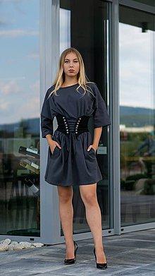 Šaty - Šaty oversize sivé - 10903208_