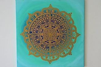 Obrazy - Mandala hojnosti a pokoja - 10902756_