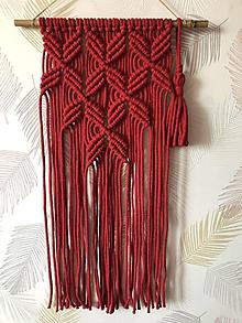 """Dekorácie - Macramé dekorácia """"Červeň"""" - 10900566_"""