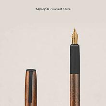 Iné doplnky - Pero Kayu Engino ovangkol/černá (bombičkové) (Strieborná) - 10902372_