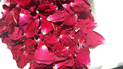 Nezaradené - Sušené lupienky ruží (Bordová) - 10903272_