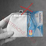 Peňaženky - Peňaženka mini  Károvaná s kvietkami - 10900625_