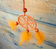 Dekorácie - Minilapač snov, oranžový - 10903133_