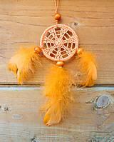 Dekorácie - Minilapač snov, oranžový - 10903137_