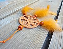 Dekorácie - Minilapač snov, oranžový - 10903142_