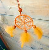 Dekorácie - Minilapač snov, oranžový - 10903146_