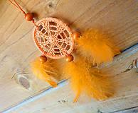 Dekorácie - Minilapač snov, oranžový - 10903148_