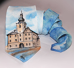 Doplnky - Hodvábna kravata na mieru - Nová Baňa - 10901139_