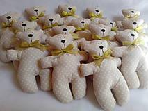 Darčeky pre svadobčanov - Medvediky pre najmenších svadobčanov - 10900506_