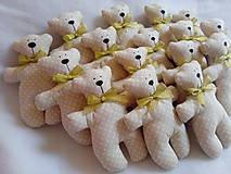 Darčeky pre svadobčanov - Medvediky pre najmenších svadobčanov - 10900513_
