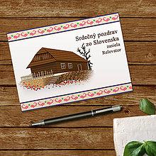 Papiernictvo - Ľudová pohľadnica chalúpka - 10903345_