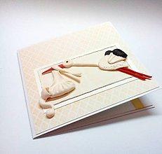 Papiernictvo - Pohľadnica ... priletí bocian - 10905696_